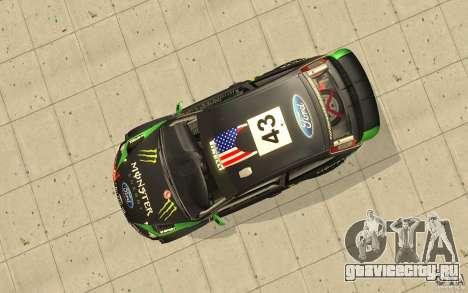 Ford Focus RS WRC 08 для GTA San Andreas вид сверху