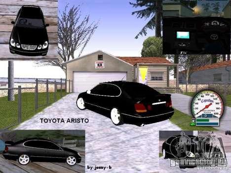 TOYOTA ARISTO 2001 года для GTA San Andreas вид сбоку