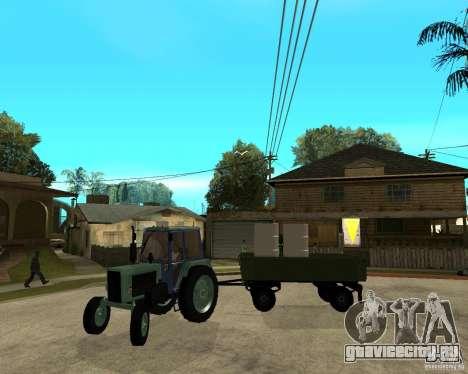 Трактор Беларусь 80.1 и прицеп для GTA San Andreas вид сверху