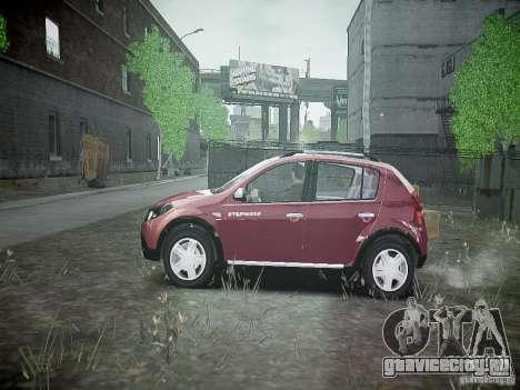 Dacia Sandero Stepway для GTA 4 вид слева
