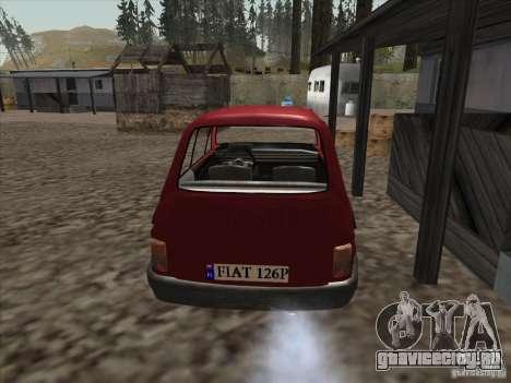 Fiat 126p Elegant для GTA San Andreas вид сзади слева