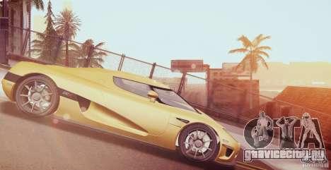Koenigsegg CCX 2006 v2.0.0 для GTA San Andreas вид сбоку