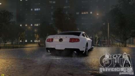 Ford Shelby Mustang GT500 2011 v2.0 для GTA 4 вид сверху