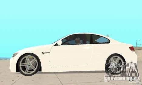 BMW M3 2008 для GTA San Andreas вид сзади