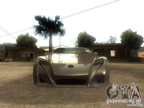 Lexus LFA Custom для GTA San Andreas вид справа