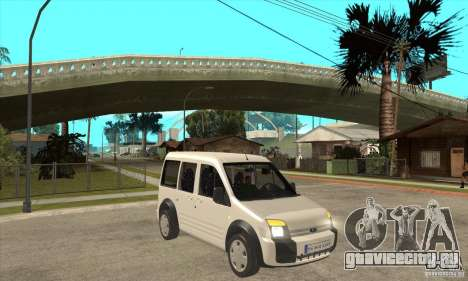 Ford Transit Connect 2007 для GTA San Andreas вид сзади