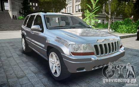 Jeep Grand Cheroke для GTA 4 вид справа