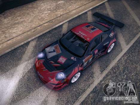 Porsche 997 GT3 RSR для GTA San Andreas вид снизу