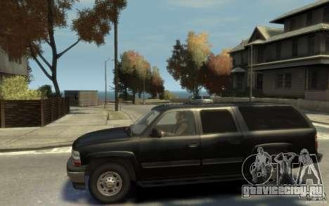 Chevrolet Suburban 2003 FBI для GTA 4 вид слева