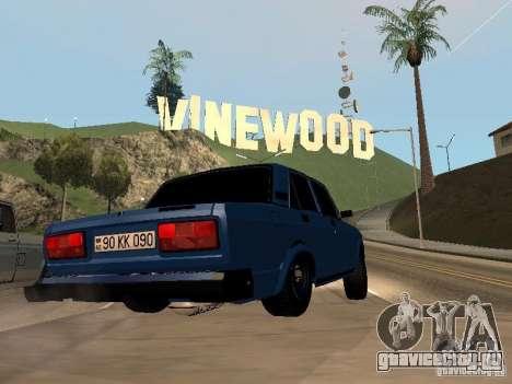 ВАЗ 2107 Baku для GTA San Andreas вид слева