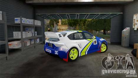 Subaru Impreza WRX STI Rallycross BFGoodric для GTA 4 вид слева