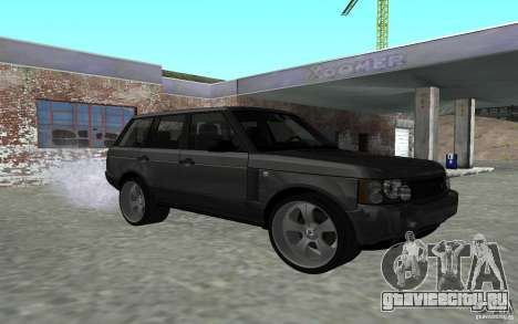 Land Rover Supercharged для GTA San Andreas вид сзади
