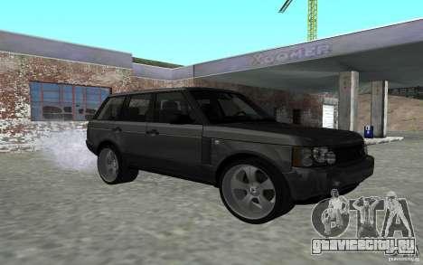 Land Rover Supercharged для GTA San Andreas вид сзади