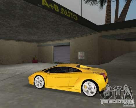Lamborghini Gallardo v.2 для GTA Vice City вид сзади слева