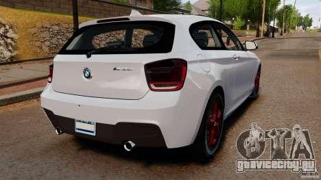 BMW 135i M-Power 2013 для GTA 4 вид сзади слева