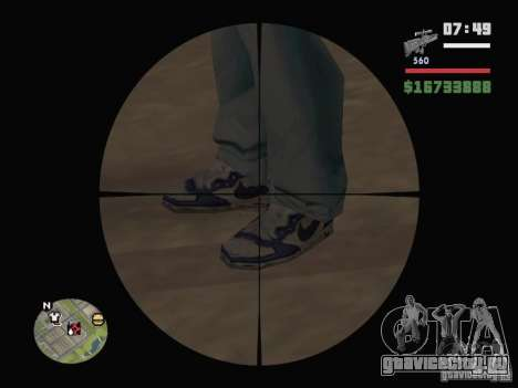 Blue Nike Air Force для GTA San Andreas второй скриншот