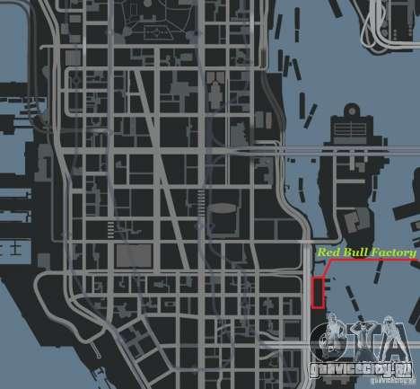 Red Bull Factory для GTA 4 шестой скриншот