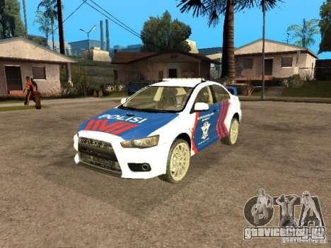 Mitsubishi Lancer X Police Indonesia для GTA San Andreas