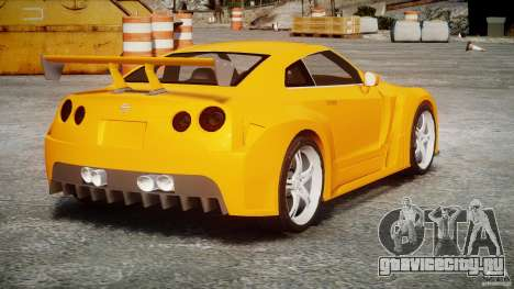 Nissan Skyline R35 GTR для GTA 4 вид изнутри