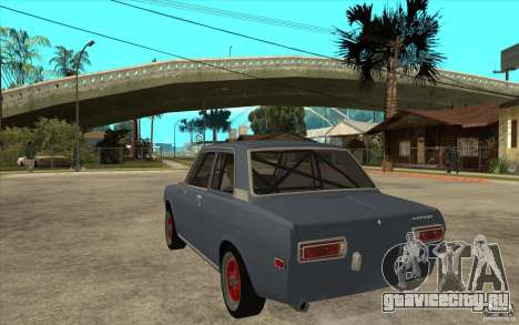 Datsun 510 JDM Style для GTA San Andreas вид сзади слева