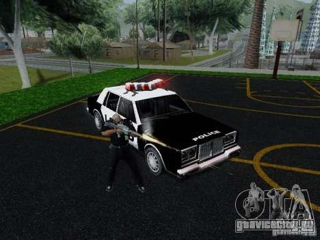 Greenwood Police LS для GTA San Andreas вид сзади