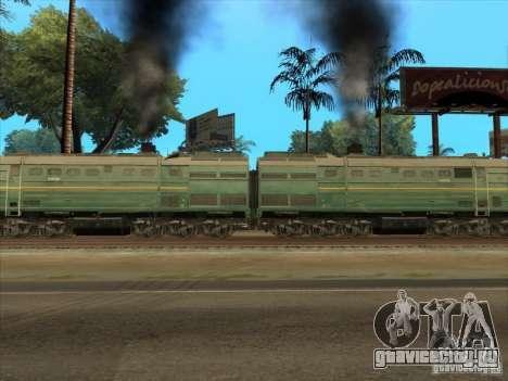 2ТЭ10В-3594 для GTA San Andreas вид изнутри