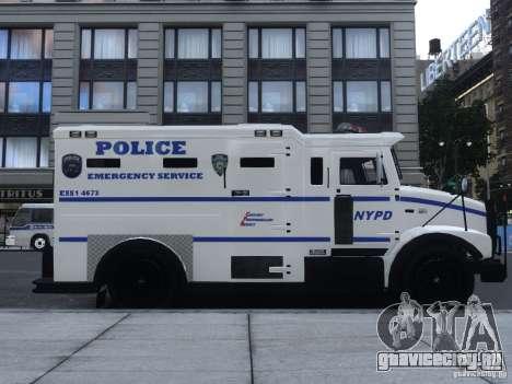 Enforcer Emergency Service NYPD для GTA 4 вид сзади слева