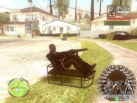 Сани для GTA San Andreas вид сзади слева