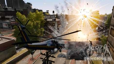 Вертолёт с RPG для GTA 4 вид справа