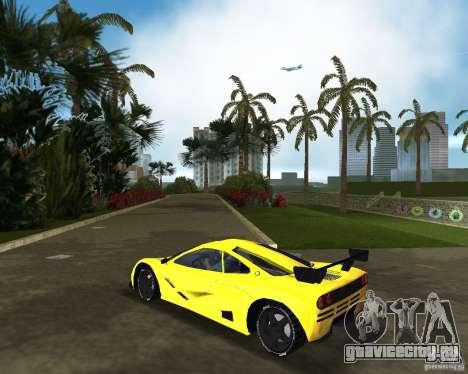 McLaren F1 LM для GTA Vice City вид слева