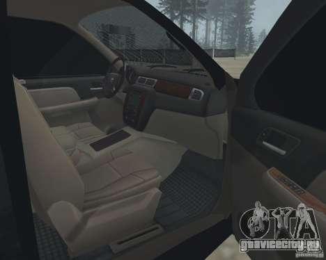 Chevrolet Tahoe BLACK EDITION для GTA San Andreas вид изнутри