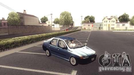 Fiat Siena 1998 для GTA San Andreas вид сзади