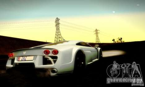 Noble M600 Final для GTA San Andreas вид сверху