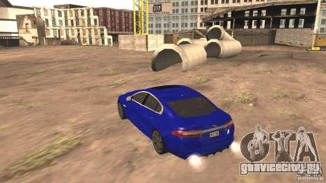 Jaguar XFR 2012 V1.0 для GTA San Andreas вид сзади
