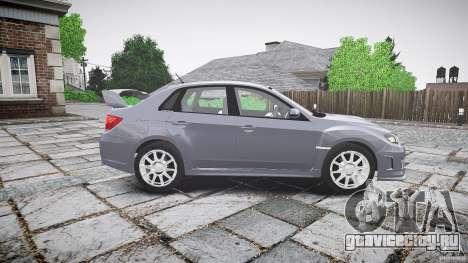 Subaru Impreza WRX 2011 для GTA 4 вид изнутри