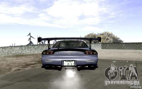 Mazda RX-7 Hellalush для GTA San Andreas вид сзади