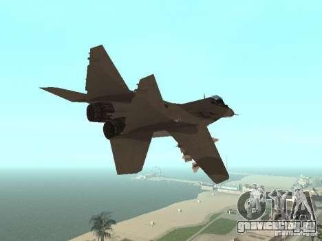 МИГ-29 из COD MW2 для GTA San Andreas вид сзади