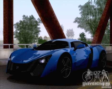 Marussia B2 2010 для GTA San Andreas вид сзади