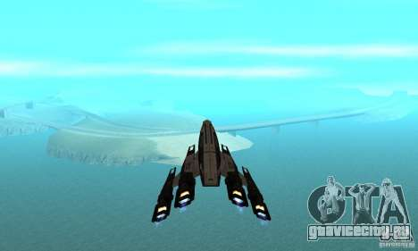 S.S.V. NORMANDY-SR 2 для GTA San Andreas вид снизу