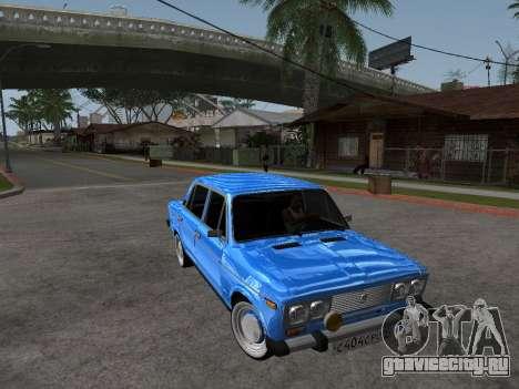 ВАЗ 2106 Ретро V2 для GTA San Andreas вид изнутри