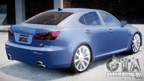 Lexus IS F для GTA 4 вид снизу