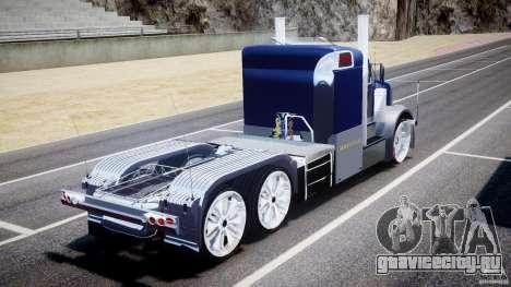 Peterbilt Truck Custom для GTA 4 вид сзади слева