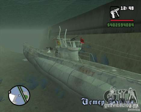 U99 German Submarine для GTA San Andreas