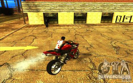 Yamaha YZF R1 Tuning Version для GTA San Andreas вид снизу