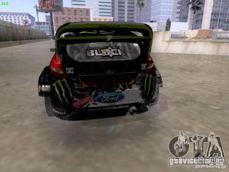 Ken Block Ford Fiesta 2012 для GTA San Andreas вид сзади слева