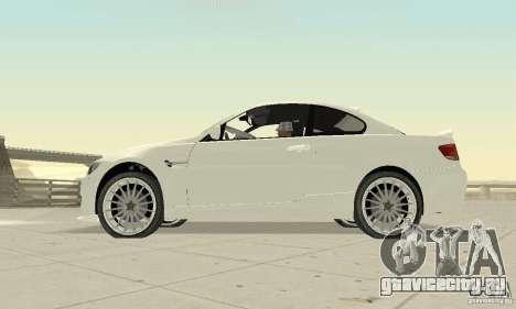 BMW M3 2008 Convertible Hamann для GTA San Andreas вид справа