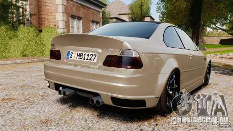 BMW M3 E46 для GTA 4 вид сзади слева
