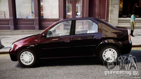 Dacia Logan 2007 Prestige 1.6 для GTA 4 вид сзади слева