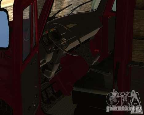 Зил 433362 для GTA San Andreas вид изнутри