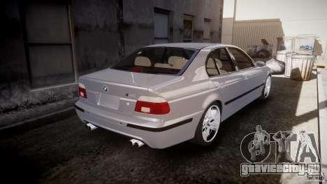 BMW M5 E39 Stock 2003 v3.0 для GTA 4 вид сверху